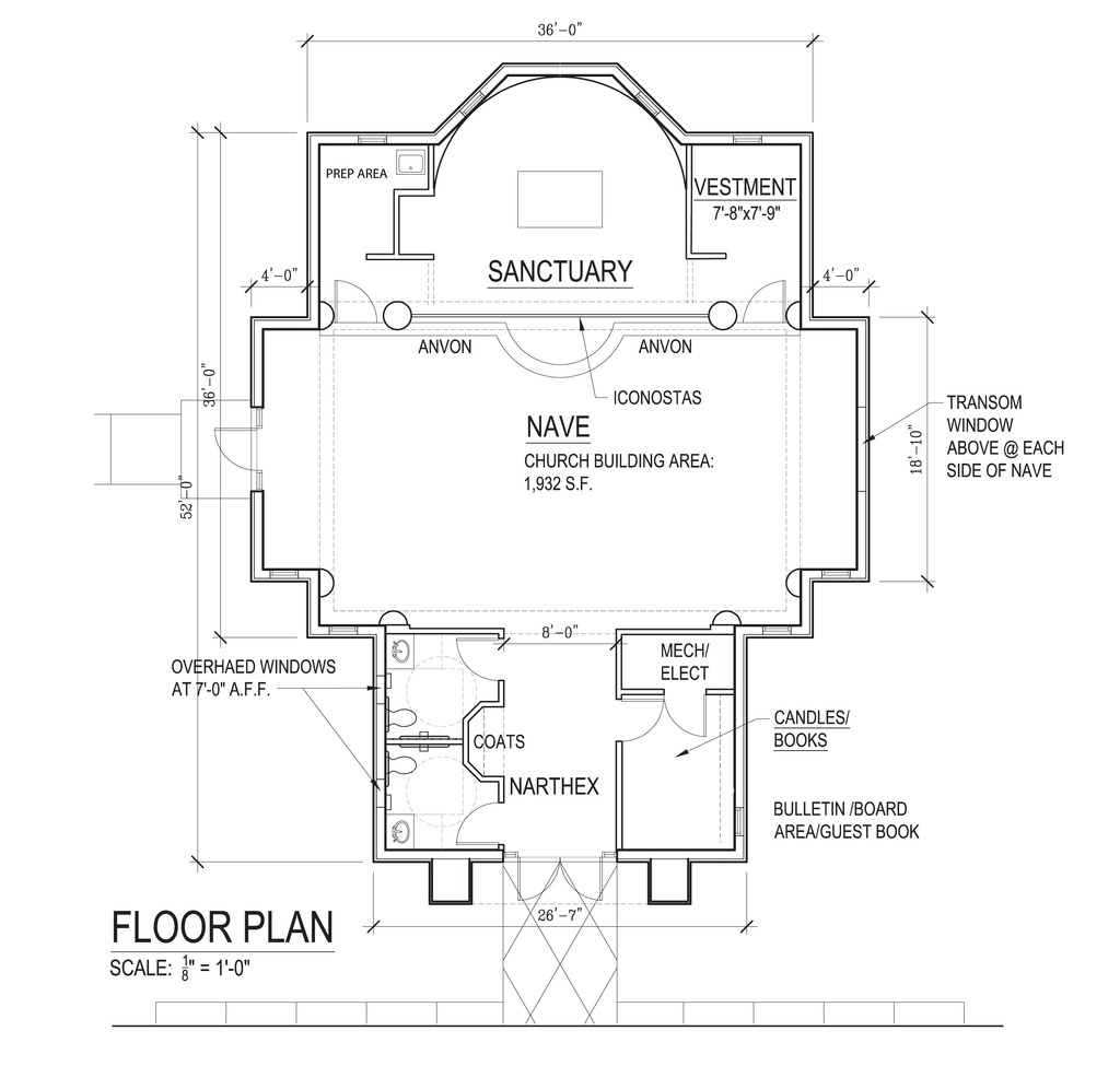 St nicholas orthodox church our new home for Church floor plans